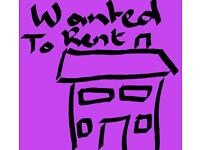 Wanted to rent 2 bedroom house or flat kent area