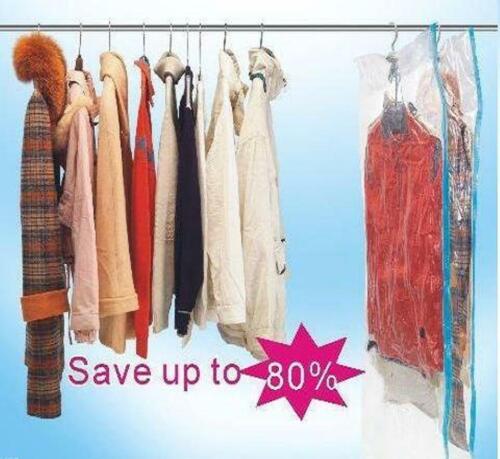 20 PACK Large Hanging Vacuum Space Saver Closet Storage Bag Clothes Dress Suits