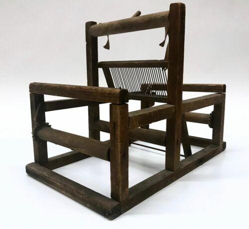 Vintage Miniature Counterbalance Wooden Loom