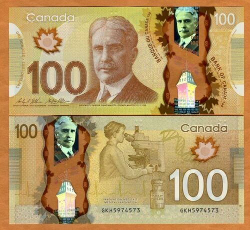Bank of Canada, $100, 2011, Polymer, P-110c, UNC