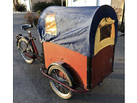 t Mannetje Filibak Cargobike with Prairie hood and rain cover