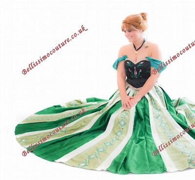 PLUS SIZE Disney Princess Frozen Anna Coronation Costume adult SIZE 18-28