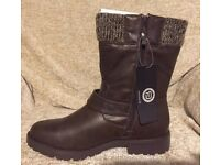 R.E.D Knitted Strap Boot Size 7 Brand new, tags and boxed
