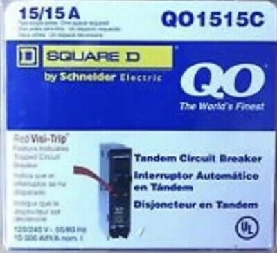 New Circuit Breakers Square D Schneider Qo1515 15 Amp 1 Pole 120240v Tandem