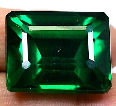 AAA Colombian 58.05Ct Natural Green Emerald Shape Loose Gemstone Certified F3961
