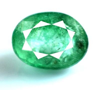 9x7mm (2.20cts) OVAL-FACET CERTIFIED NATURAL (IGL) COLOMBIAN EMERALD GEMSTONE