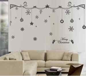Christmas-Decoration-Art-Wall-Stickers-Vinyl-Transfer-Xmas-Wall-Decals-UK