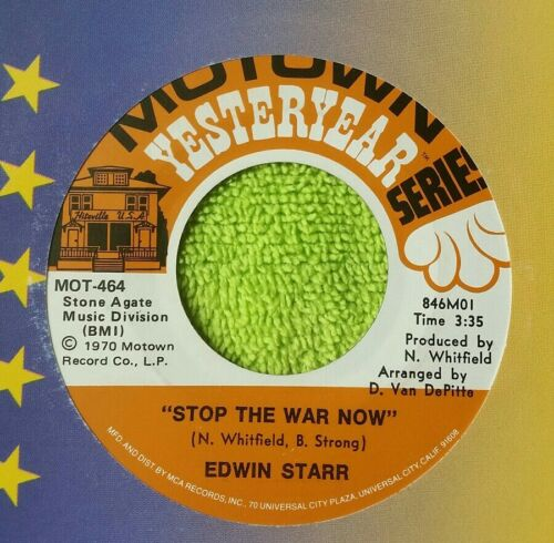 Edwin Starr- War / Stop The War Now / WITH SLEEVE / VG REISSUE FF - $3.45