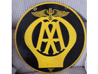 Vintage Enamel double sided AA Sign