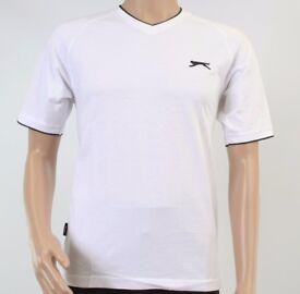 Mens Slazenger White T Shirt Size S, BRAND NEW