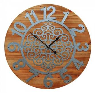 Clock Metal Cut Out (Brand New) #5833