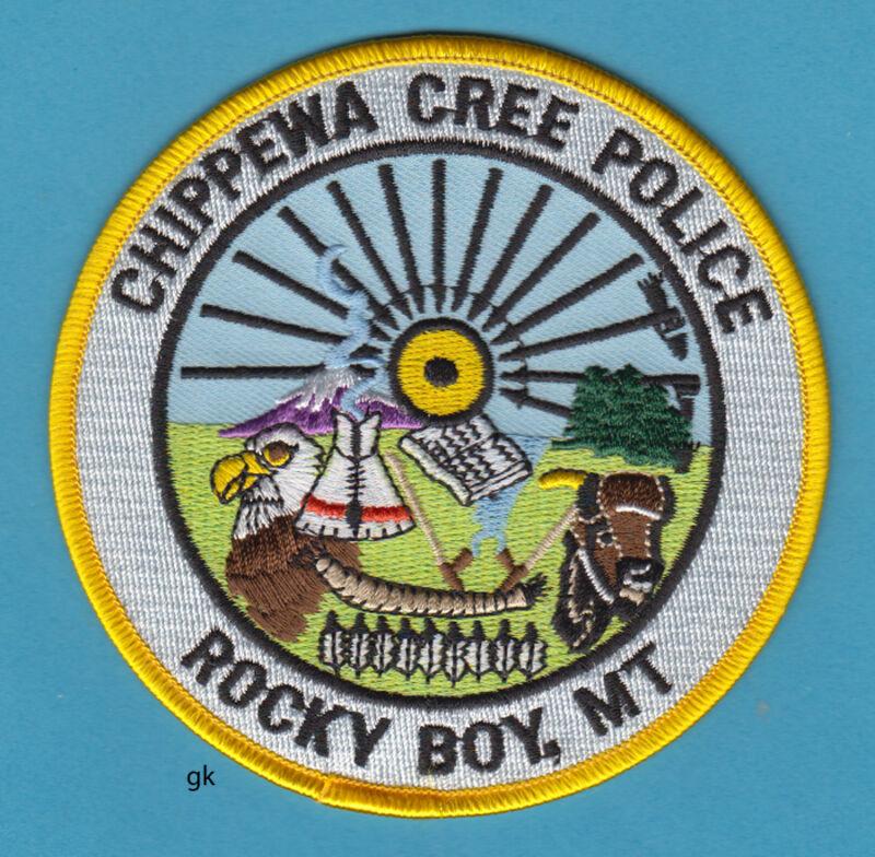 CHIPPEWA CREE TRIBAL POLICE ROCKY BOY MONTANA SHOULDER PATCH