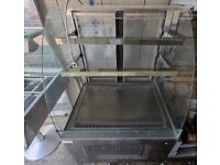 Stainless Steel Display Fridge Chiller Open Fronted Doors At Rear Commercial Coffee Shop Cafe GC