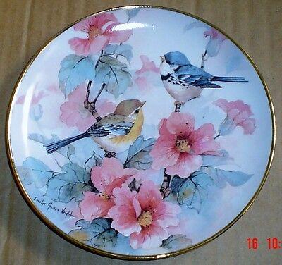 Franklin Mint Collectors Plate SPRINGTIME SERENADE Birds Flowers Very Pretty