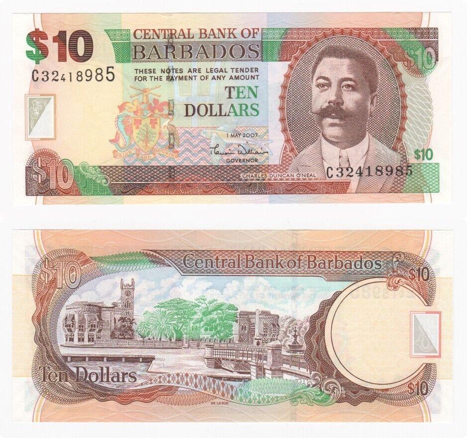 Barbados 2007 $10 P-68a UNC