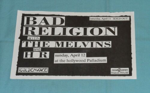 vintage original BAD RELIGION HANDBILL flyer The Melvins Hollywood Palladium