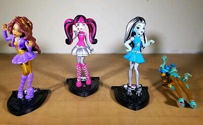 Monster High Scary Cute Valentine's Figures Mini Dolls Lot of 4 Frankie Clawdeen ()