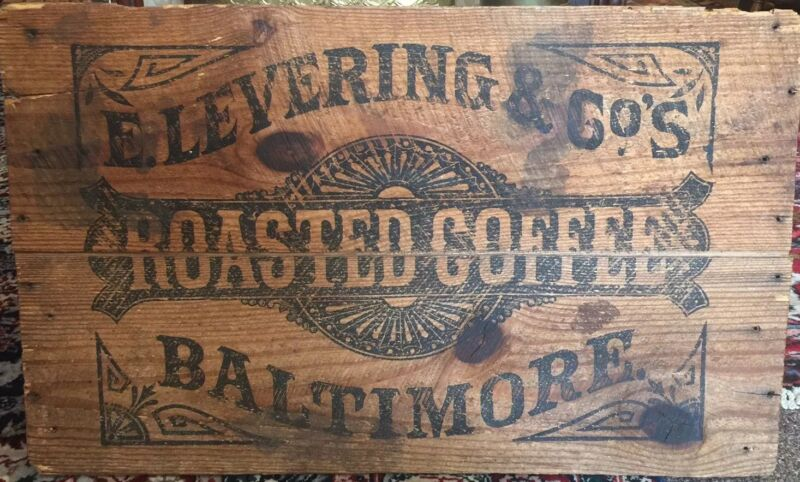 Vintage Baltimore Roasted Coffee Wooden Crate, Wood Box, Old, Collectible