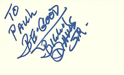 Billy Davis Jr Singer Musician 5th Dimension Music Autographed Signed Index Card Index Card Dimensions