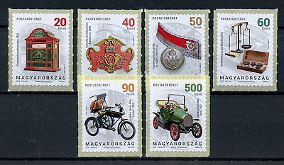 Hungary 2018 MNH Postal History II 6v S/A Set Cars Postal Services Stamps