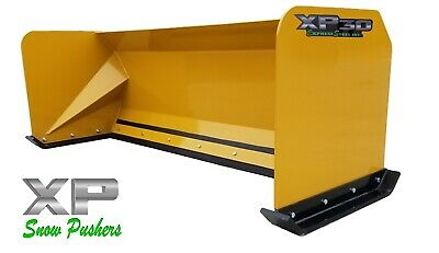 7 Xp30 Cat Yellow Snow Pusher - Skid Steer Loader - Local Pick Up