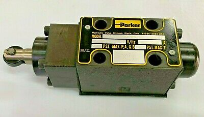 Parker Series D1vd D1vd004bnp05 Cam Operated 4-way Hydraulic Control Valve
