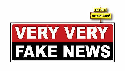 Very Very Fake News Donald Trump Hating Media Cnn Msnbc Usa Fox Decal Sticker