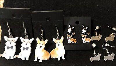 Welsh Corgi Earrings (NEW! Pembroke Welsh Corgi Dog Jewelry Fashion Earrings Dangle Stud You)