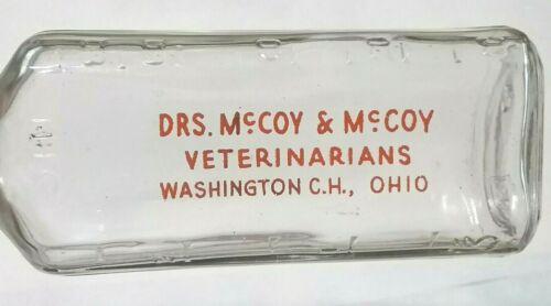 Vintage Drs. McCoy & McCoy Veterinarians Washington Court House Ohio Bottle OH