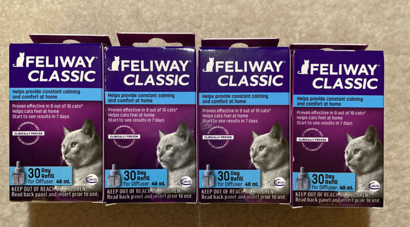 Feliway classic Diffuser Refill brand new   (4 boxes ! )
