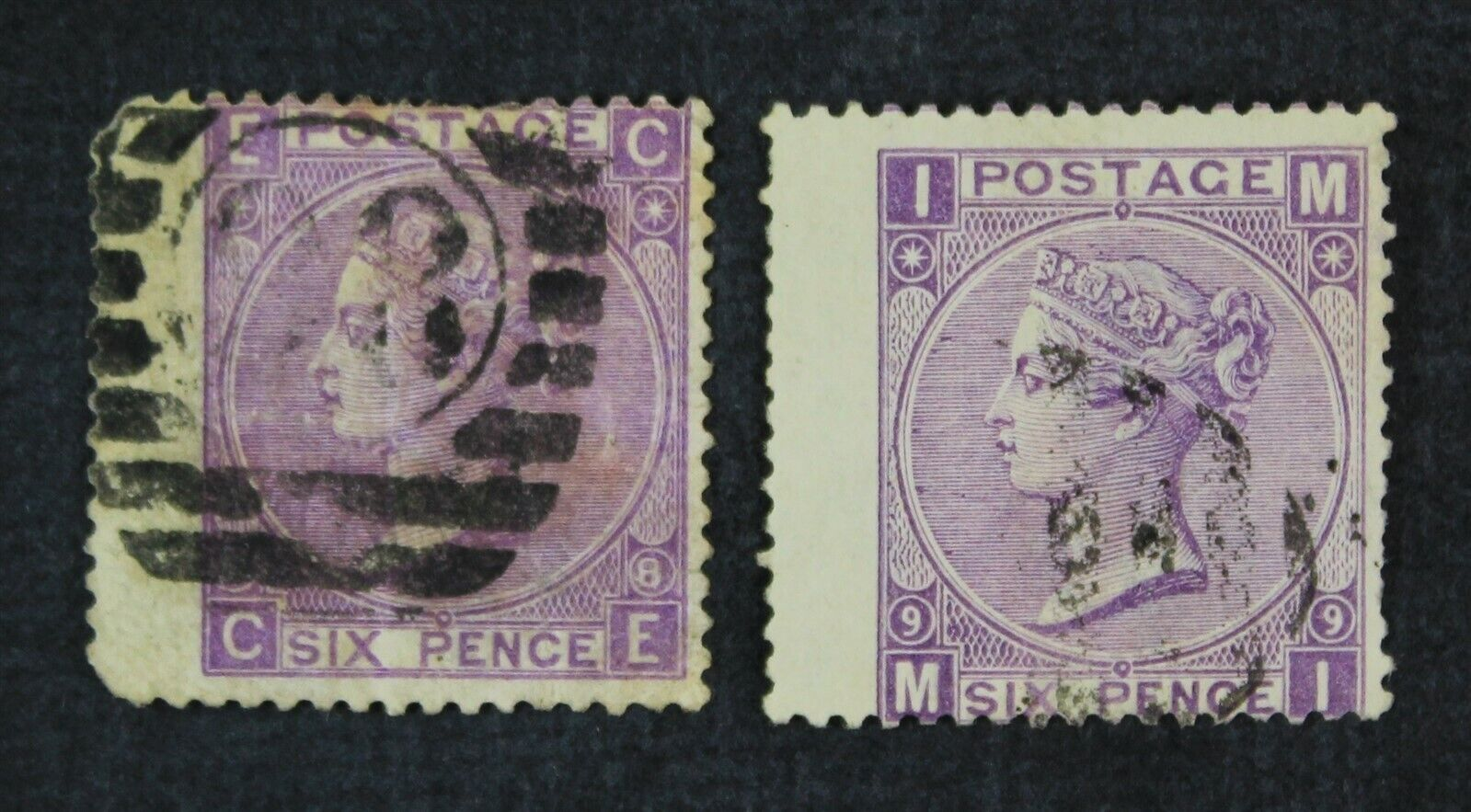CKStamps Great Britain Stamps Collection Scott 51 Victoria Used P 8 Crease P 9 - $2.25