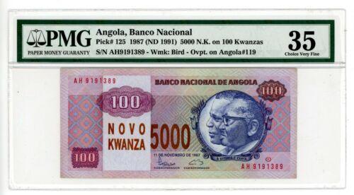 Angola .. P-125 ... 5000 Kwacha .. 1987(1991) .. Choice *VF-XF* PMG 35 (VF-XF)