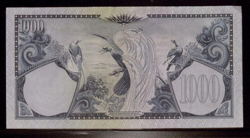 Indonesia 1959 1000 Rupiah AU   Birds (RC17330)