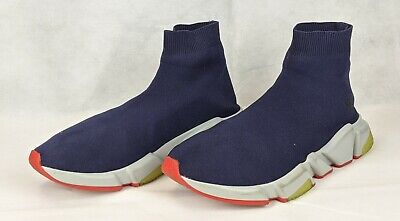 100% Auth BALENCIAGA Speed Sock Stretch-Knit Slip-On BB Sneakers Trainers 43/1