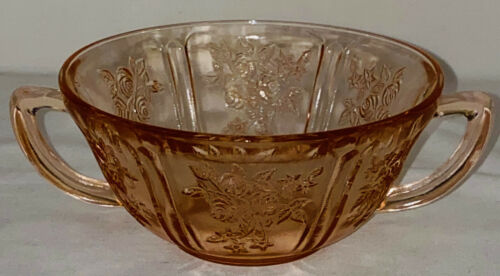 """Federal SHARON/CABBAGE ROSE PINK *5"""" CREAM SOUP BOWL*"""