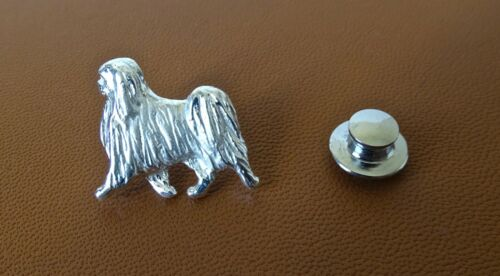 Sterling Silver Japanese Chin Moving Study Lapel Pin