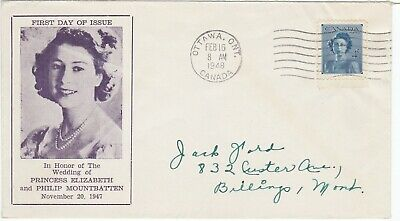Canada First Day Cover February 16, 1948 Royal Wedding (#276)