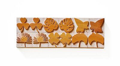 Letterpress Leaf Set - Wood Type 8 Line 338 Mm - 12 Pieces