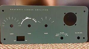 Heathkit SB-200  SB-201 front panel replacement overlay