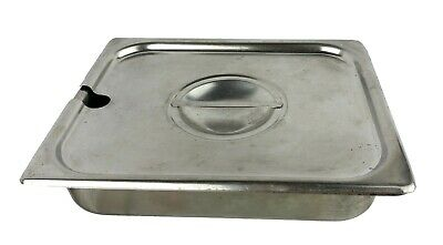 Edward Don Kitchen King Stainless Steam Table Pan 12.75x10.25x2.5 Slotted Lid