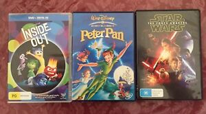 Peter Pan, Inside Out and Star Wars DVDs Jimboomba Logan Area Preview
