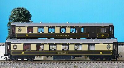 2x HORNBY PULLMAN COACHES from TORNADO EXPRESS TRAIN SET R1225 LUCILLE & CAR 93