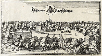 HANKENSBÜTTEL - KLOSTER ISENHAGEN - Caspar Merian - Kupferstich 1654
