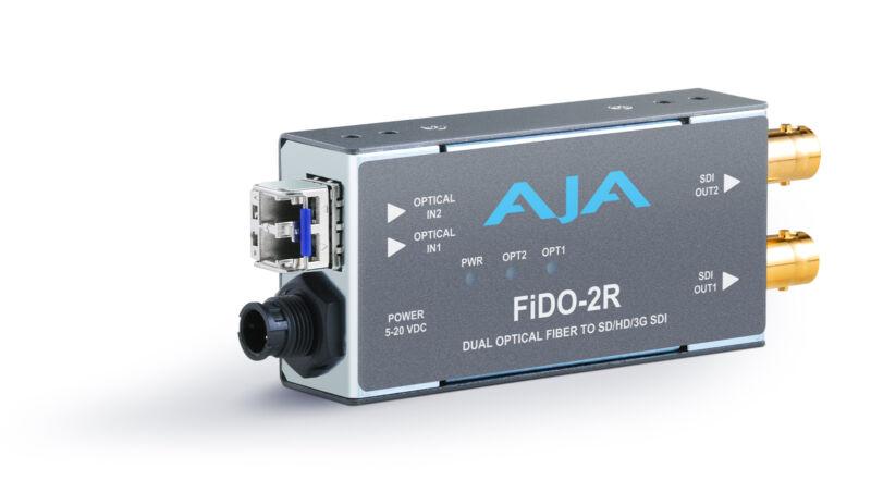 AJA FIDO-2R-12G-RST-01 2-Channel Single Mode LC Fiber to 12G-SDI Receiver