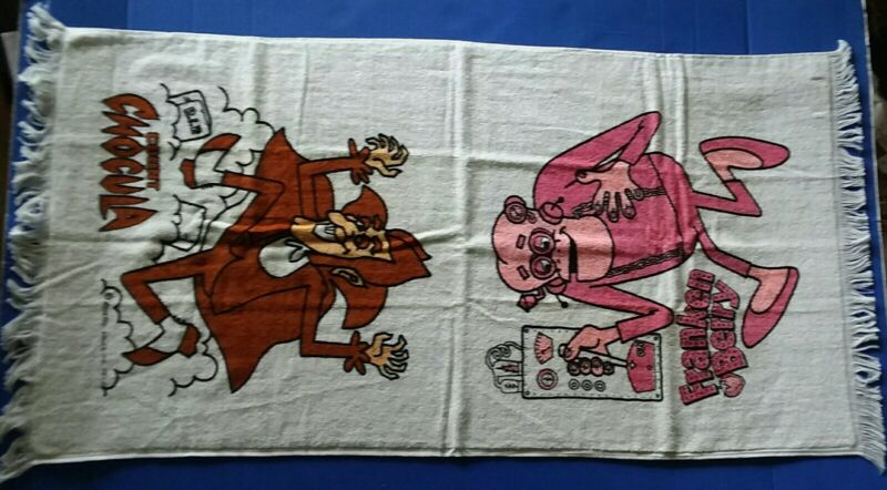 Count Chocula & Franken Berry cereal box send away towel 1972 UNUSED condition!!
