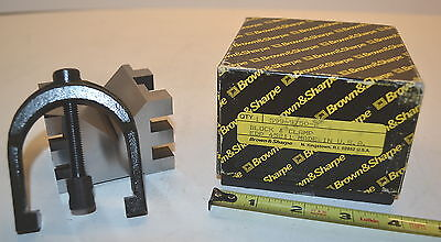 Nos Brown Sharpe Usa Precision Hardened Machinists Toolmakers V-block Clamp