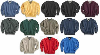 White Bear Microfiber Windshirt Pullover Long Sleeve V-Neck Golf Wind Shirt -