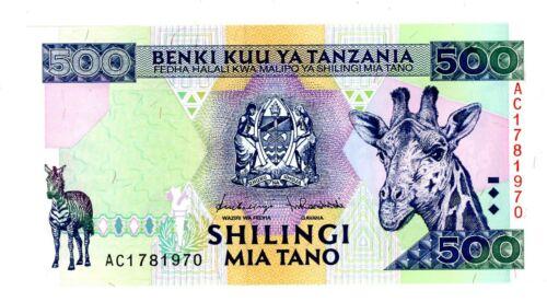 Tanzania  … P-30 … 500 Shillings … ND(1997) … *UNC*.
