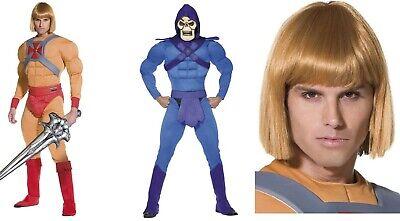 Men's He-Man & Skeletor Muscle Fancy Dress Costumes Cartoon Movie Stag Themed Do - Skeletor Costumes