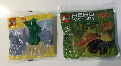 LEGO 2 BRAND NEW SEALED POLYBAGS. STATUTE OF LIBERTY & HERO FACTORY BRAIN ATTACK